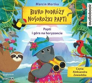 "Okładka audiobooka Marcin Mortka ""Papti i góra na horyzoncie"""