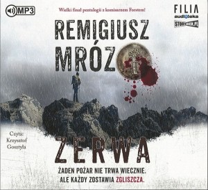 """Okładka audiobooka Remigiusz Mróz """"Zerwa"""""""