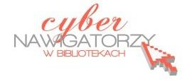 Logo cybernawigatorzy w bibliotekach
