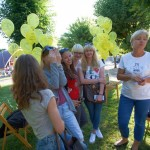 Zdjęcie przy balonach na alejkach