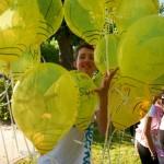 Ramka z balonów