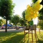 Balony w parku