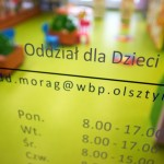 Wejście do czytelni dla dzieci