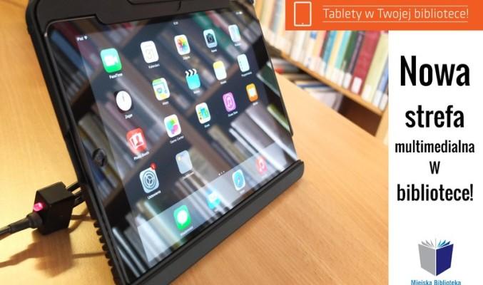 1 z tabletów biblioteki