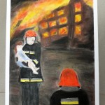 Praca pokazująca pracę strażaków