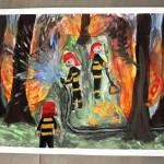 Obraz gaszenia pożaru lasu