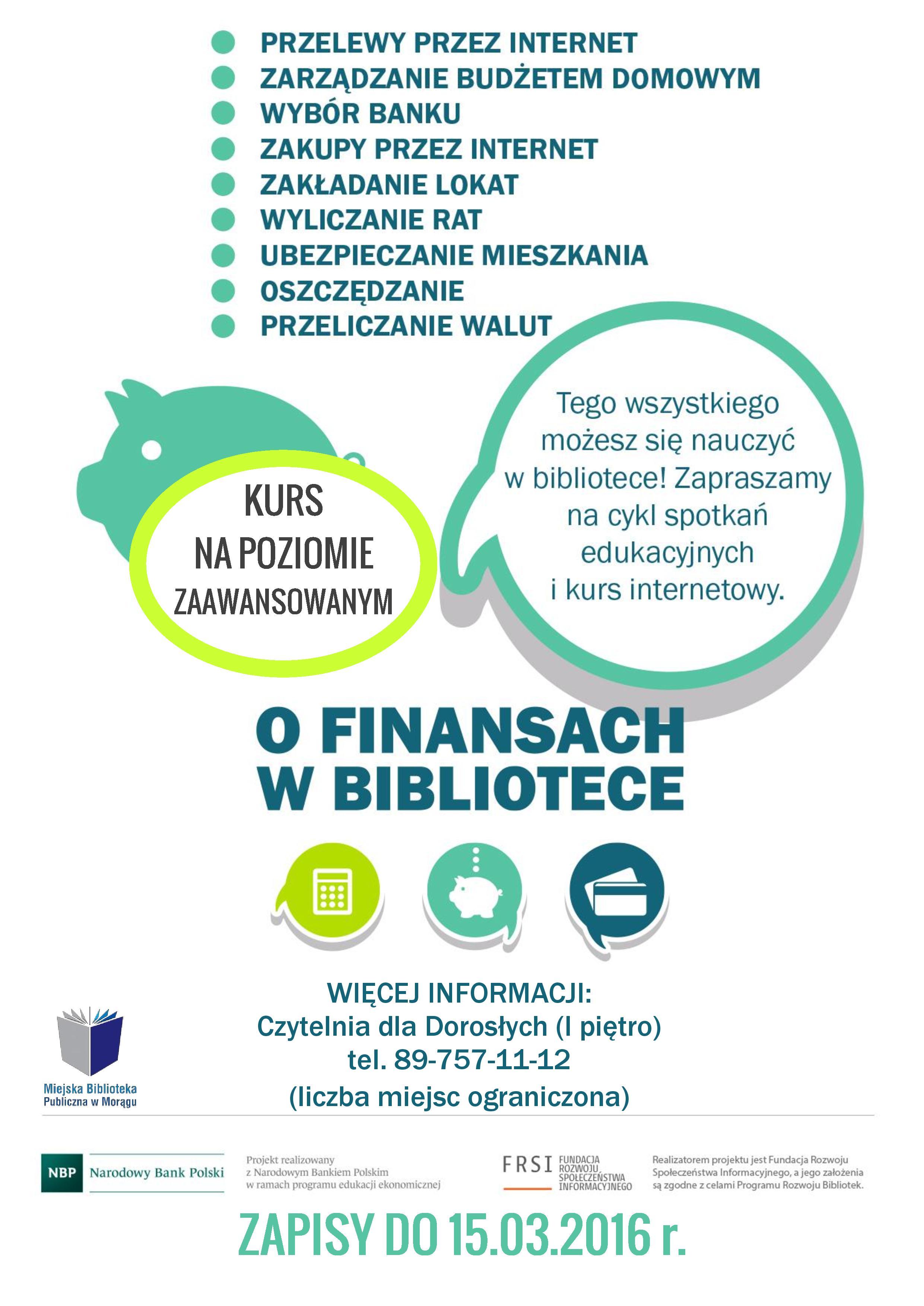 Zajęcia z zakresu edukacji finansowej dla osób 50+