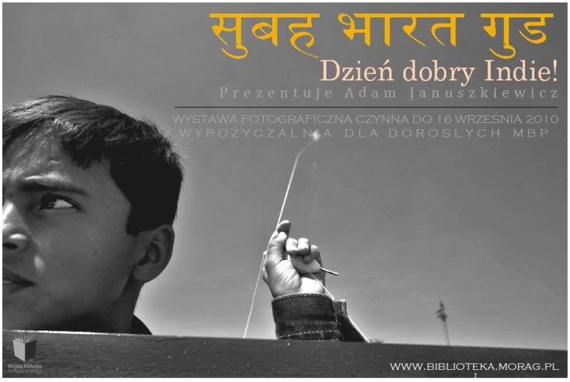 """Plakat wystawy """"Dzień dobry Indie!"""""""