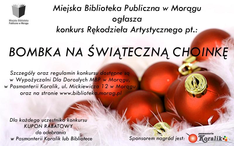 """Plakat """"Bombka na świąteczną choinkę"""""""