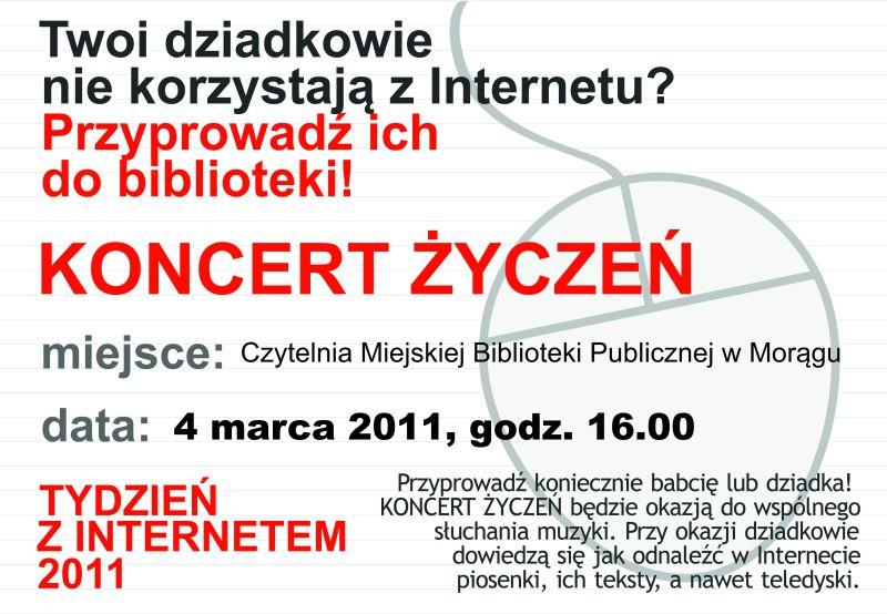 "Plakat akcji ""Koncert życzeń"""