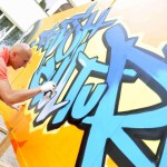 "Graffiti autorstwa Macieja SCARA Gryko ukazujące napis ""Fresh Culture"""