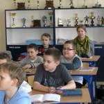 Dzieci podczas nauki historii o Morągu