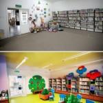 Fotografia Oddziału dla Dzieci (wejście) - sprzed i po remoncie