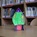 Kolorowa rakieta z papieru