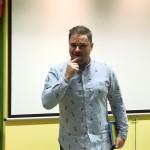 Grzegorz w czasie przemowy