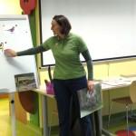 Alina Rodziewicz w trakcie zajęć