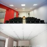Porównanie ścian w sali wielofunkcyjnej