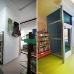 Fotografia Oddziału dla Dzieci (winda) - sprzed i po remoncie