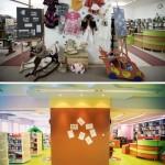 Fotografia Oddziału dla Dzieci (ściana wystawowa) - sprzed i po remoncie