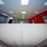 Porównanie sufitu w sali wielofunkcyjnej
