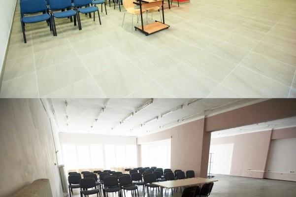 Porównanie sali wielofunkcyjnej