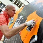 """Etap malowania graffiti """"Fresh Culture"""""""