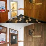 Porównanie korytarza biblioteki
