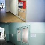Porównanie drzwi i ścian