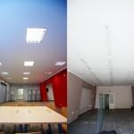 Porównanie biblioteki przed i po remoncie
