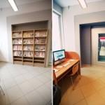 Fotografia Czytelni dla Dorosłych (winda) - sprzed i po remoncie