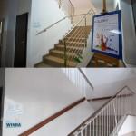 Porównanie ścian przy schodach