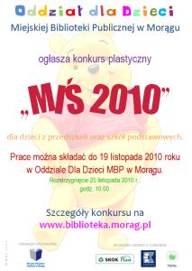 """Plakat konkursu """"Miś 2010"""""""
