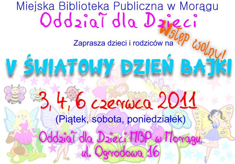"""Plakat """"V Światowy Dzień Bajki"""""""
