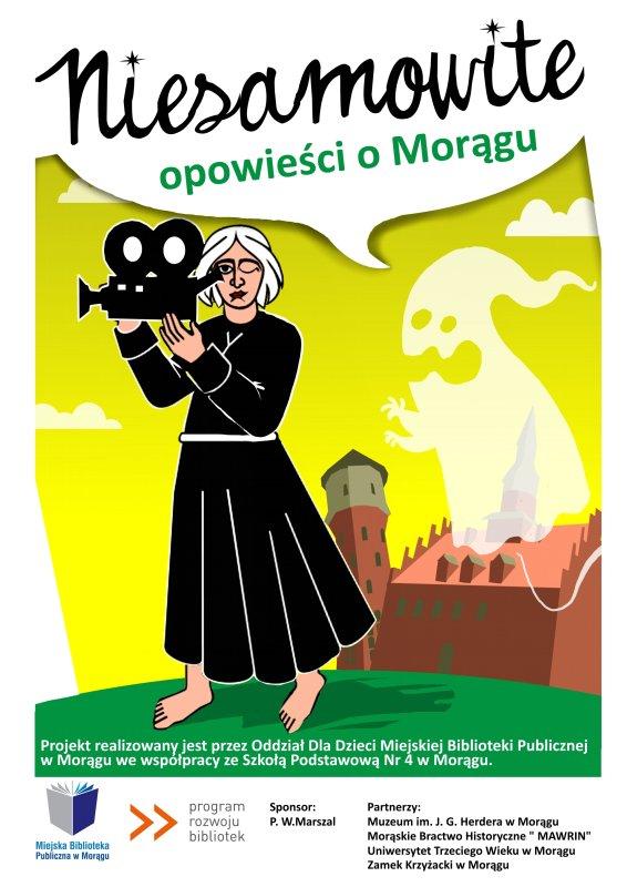 """Plakat """"Niesamowite opowieści o Morągu"""""""