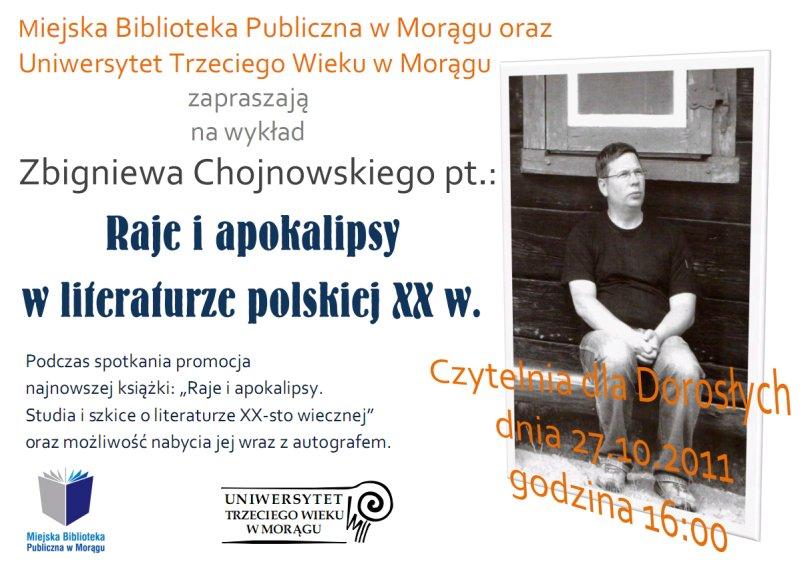"""Plakat """"Raje i apokalipsy w literaturze XX w."""""""