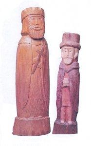 Rzeźba drewniana Józefa Kuleszy