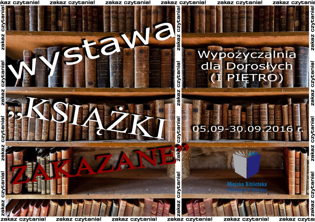 """Wystawa pt. """"Książki zakazane"""""""
