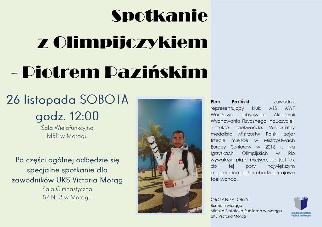 Informacja o spotkaniu z olimpijczykiem