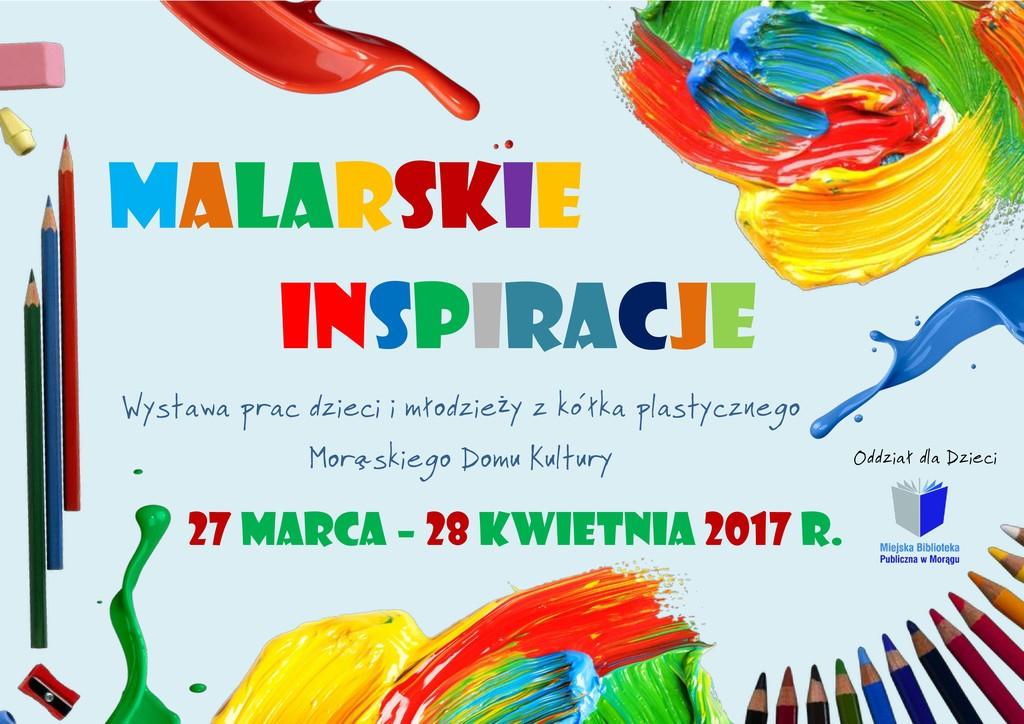 "Plakat ""Malarskich inspiracji"""