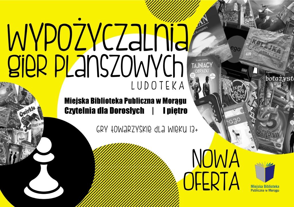 Wypożyczalnia Gier Planszowych Miejska Biblioteka Publiczna W Morągu