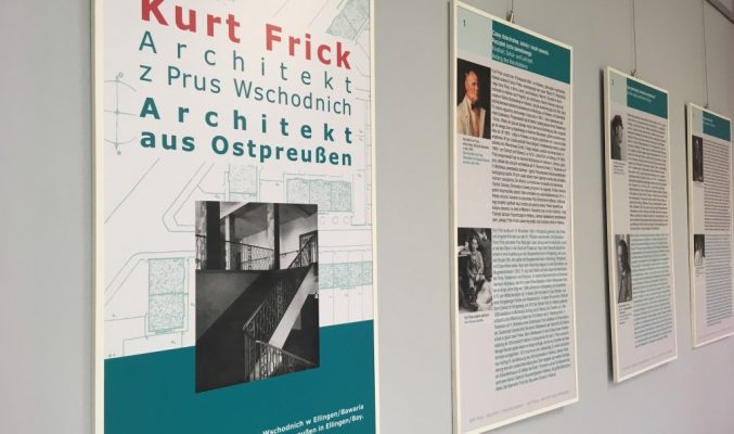 """Wystawa zatytułowana """"Kurt Frick - architekt z Prus Wschodnich"""""""