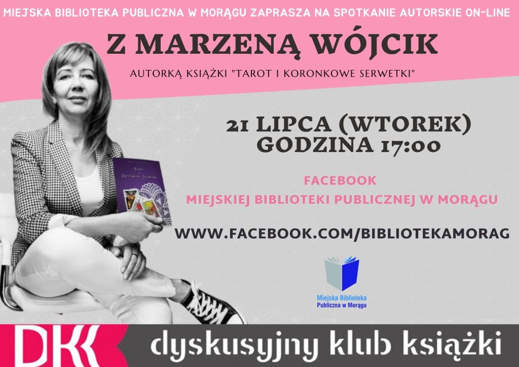 Plakat spotkania autorskiego z Marzeną Wójcik