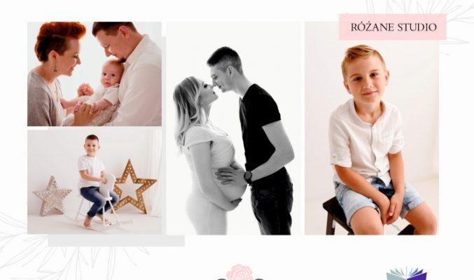 Plakat wystawy fotograficznej Urszuli Krupki, na plakacie kolaż zdjęć dzieci i całych rodzin